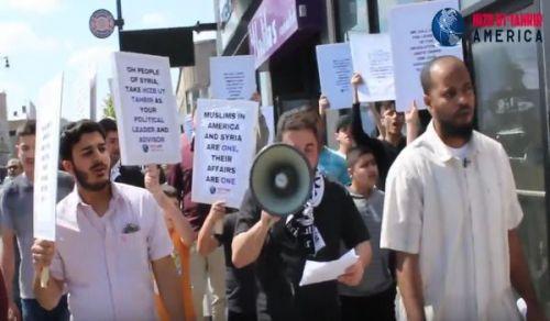 أمريكا: مسيرة نصرة للمسلمين في سوريا