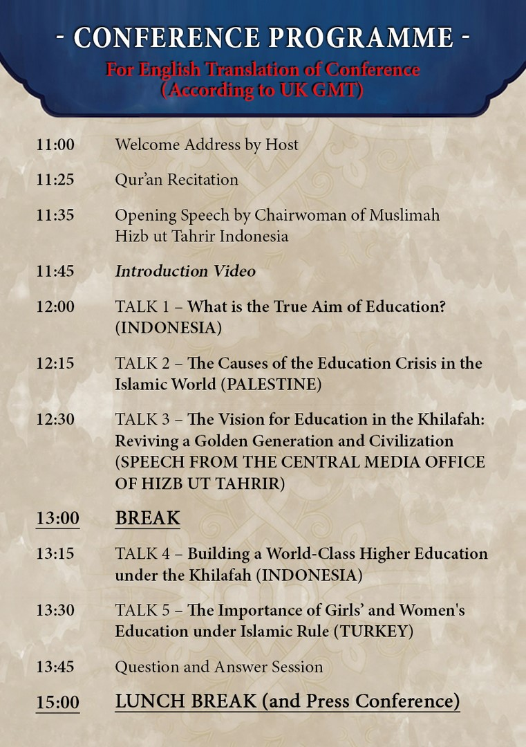 WS Khilafah Conf Program Flyer EN Page 2