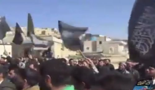Wilayah Syria:  Demonstration in the town of Salwah to reject truce & negotiations with criminal regime