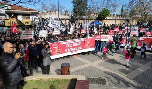 UPDATED: Wilayah Turkey: Organised a series of press releases and protested the so-called Deal of the Century The Quds is Ours and Will Remain Ours