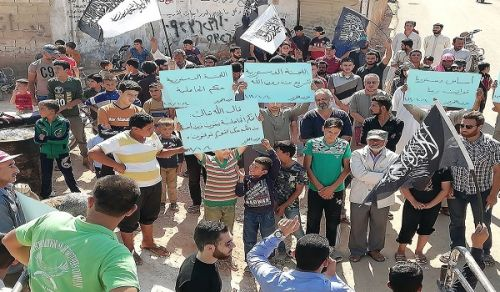 Wilayah Syria: Protest in Camps of Atmaa entitled, No to the Manmade Constitutions...Yes to the Constitution based on the Islamic Aqeedah