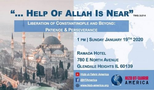 On the Anniversary of the Conquest of Constantinople  Hizb ut Tahrir/ America Held a Conference Entitled The Help of Allah is Near