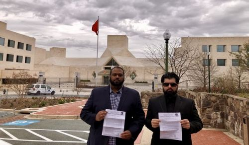 America The Chinese Embassy refused to receive the delegation of Hizb ut Tahrir!