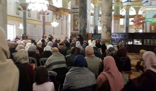 The Blessed Land of Palestine: Women's Section of Hizb ut Tahrir, held a mass talk at Masjid Al Aqsa on the Conquest of Constantinople