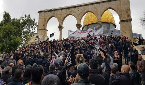 The Blessed Land - Palestine:  Hizb ut Tahrir calls on the Ummah and its armies from Al-Aqsa to fulfill the glad tidings of the Messenger by establishing the Khilafah and liberating Jerusalem