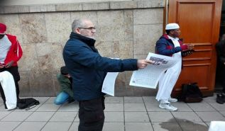 Sweden: Distribution of Al Raya Newspaper at the Grand Mosque in Stockholm