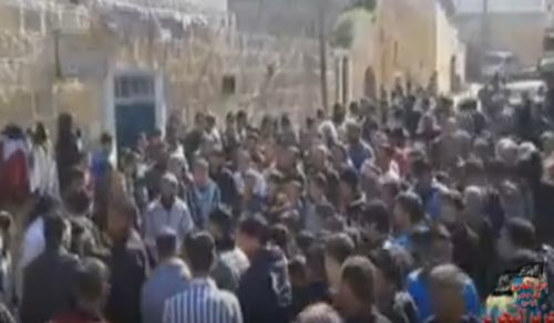 Wilayah Syria: Demonstration in town of Tell Elkarame to reject truce & negotiations with criminal regime