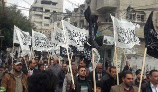 Mass Rally in the Gaza Strip on the Anniversary of the Destruction of the Khilafah