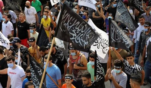 Hizb ut Tahrir Organizes a Rally Infront of the French Embassy in Beirut In Support for Islam and its Messenger (saw)