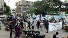 حزب التحریر-ولایه پاکستان برای آزادی مسجدالاقصی تظاهراتی راه اندازی کرد