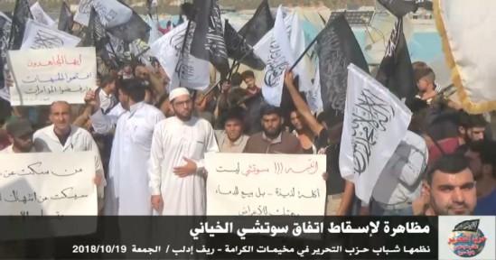 Suriye Vilayeti: El Kerame Kampında Soçi Konferansı Komplosunu Reddeden Gösteri