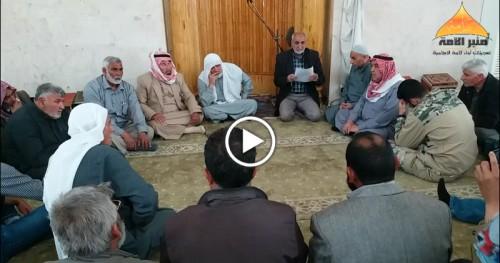 Ümmetin Minberi: Azez İleri Gelenlerinden Şam Devrimi'nin Kararlılığını Vurgulayan Bildiri
