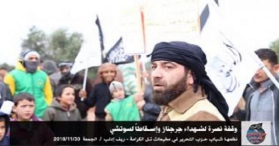 Suriye Vilayeti: Jarjanaz Şehitlerine Destek ve Soçi Konferansının Reddine Yönelik Tel Kerame'de Gösteri