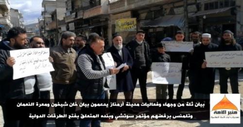 Ümmetin Minberi: Armanaz İleri Gelenleri Uluslararası Yolların Açılmasını Reddetti